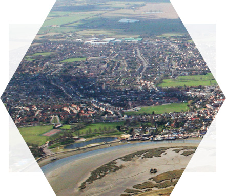Birds eye photograph of Maldon, Essex